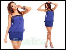 ~ Sexy Party Kleid in Blau ~ Damenkleid ~ Einheitsgröße 34, 36, 38