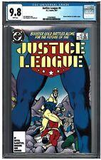 JUSTICE LEAGUE #4 CGC 9.8 (7/87) DC Comics White pages