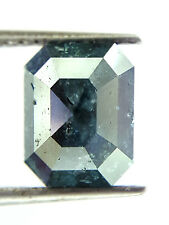 2.08TCW Greenish Blue Cushion Rose cut Loose Natural Diamond for Valentine ring