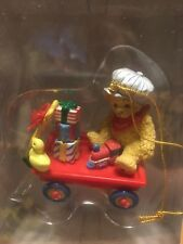 Cherished Teddies Ornament Bear in Wagon #400793 New