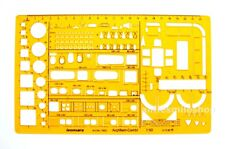 ISOMARS ARCHITECTS DRAFTING TEMPLATE 1852 KITCHEN & LIVING ROOM FURNITURE 1:50