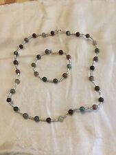 Handmade Fancy Jasper Necklace and Bracelet Set