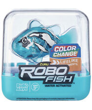 ZURU ROBO FISH - LIGHT BLUE & WHITE! ROBO ALIVE! WATER ACTIVATED! VERY RARE!TEAL