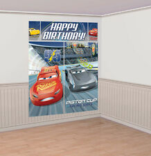 DISNEY CARS 3 SCENE SETTER BIRTHDAY PARTY PLASTIC WALL DECORATION