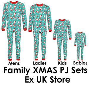 CHRISTMAS PYJAMAS FAMILY PJ SETS XMAS NOVELTY THEME BABY-ADULTS EX UK STORE NEW