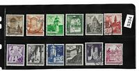 Warsaw-Cracow-Lublin  Complete 1941 stamp set /  General Government WWII Poland