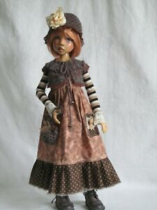 """toasty autumn 7 pc for Kaye Wiggs Layla Hope Lasher 18""""BJD OOAK handmade by JEC"""