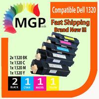 5x Compatible Toner Cartridge for Dell 1320 1320c 1320cn Colour Printer