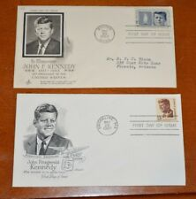 RARE STUNNING PAIR OF 1964 & 1967 FIRST DAY OF ISSUE JOHN F. KENNEDY CACHET'S