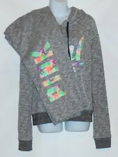 Victoria's Secret Pink French Terry Marled Tropical Palm Hoodie & Campus Pants L