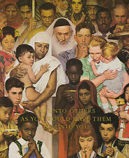 New ListingThe Golden Rule Norman Rockwell 8x10 Poster Fine Art Print