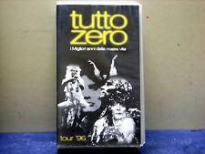 """TUTTO ZERO-VHS  DOPPIA """"TUTTO ZERO- TOUR  96 """""""