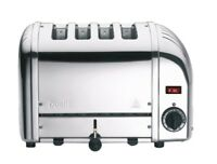 Dualit Classic Vario Four Slot Toaster 4 Slice Polished Chrome Stainless Steel