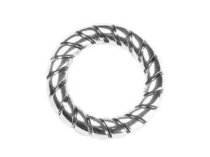 Acryl Ring gedreht versilbert