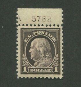 1917 États-unis Benjamin Franklin Envoi Tampon #518 Excellent État F/VF Plate °