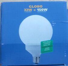 5 PEZZI LAMPADA GLOBO BASSO CONSUMO 32w = 150w E 27 LUCE FREDDA 6400K VEDI FOTO