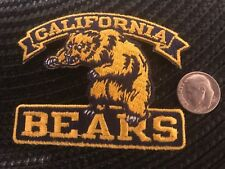 """California CAL Golden Bears Vintage Embroidered Iron On Patch 3"""" x 2"""""""