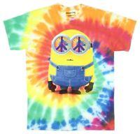 Disney Despicable Me Minions Hippie Tie Dye Licensed Men's T Shirt