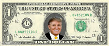 Donald Trump {in COLOR} - Presidential Candidate 2016 -  REAL Dollar Bill