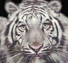 White Tiger Counted Cross Stitch Kit, félins de la faune