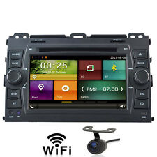 Car Radio DVD GPS Sat Nav For Toyota Land Cruiser 120 Series Prado Free Camera
