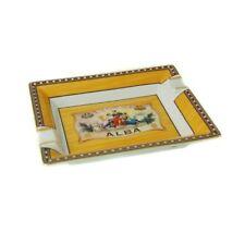 Cigar Ashtray Elie Bleu Porcelain Yellow Flor de Alba Collection