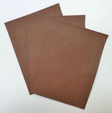 Leather Pezzi di Cuoio 3 @ 20cm x 15cm Nut Brown 1.2-1.4 mm di spessore morbido al tatto
