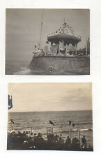2 PHOTOS ANCIENNES - CABOURG Plage Mer Paysage - Vers 1905 - Vintage
