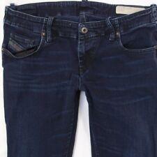 Ladies Womens Diesel GRUPEE 0608Y Stretch Skinny Blue Jeans W32 L34 UK Size 12