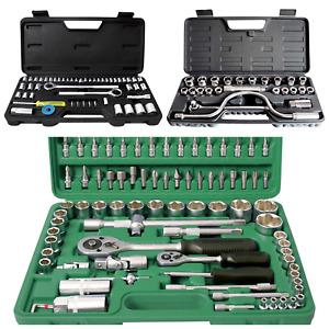 Garage Tool Kit 94pc, 52pc or 25pc Ratchet Extension Bits Tool Case Kit Garage