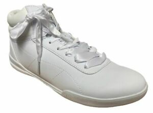 Rainbow Ladies Womens Stylish Casual White Leather Lace Up High Shoes Size 7 New