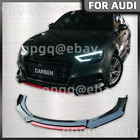 For Audi 00-21 A3 A4 S3 S4 Red Black Jdm Style Front Bumper Lip Body Kit Spoiler
