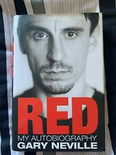 Gary Neville Hand Signed Red Autobiography Red Book Manchester United England