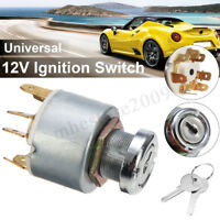 12V Universal Car Boat Ignition Lock Switch Control Starter Key For Lucas