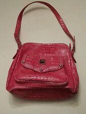 022 Pink Snake Skin Look Handbag Purse PVC Zebra Print.