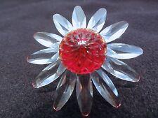Swarovski Crystal Red Daisy - Beautiful - Retired With Box