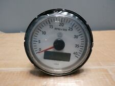 "VDO Viewline Tachometer Gauge LCD Hourmeter 85mm 3"" 4000 RPM White A2C59510093"