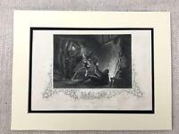 1854 Antik Gravierung Aufdruck Death Der Earl Von Desmond Irish History Irland