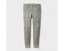 Girls' Leopard/Cheetah Print Super Skinny Jeans Pants by Art Class - Size 14