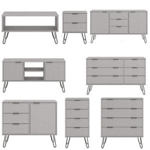Grey Chest of  Drawers Sideboard TV Unit Wardrobe Bedroom Living Room Furniture