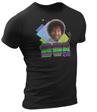 Bob Ross Unisex T Shirt Retro 90's Fan Art The Joy Of Painting funny Black