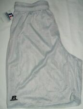 New R Russell Men's Athletic Proven oh the Field of Play Shorts Silver Sz M Nwt