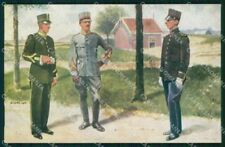 Military Soldiers Royal Dutch Army Van Oorschot 4 cartolina XF9193