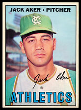 1967 TOPPS OPC O PEE CHEE BASEBALL #110 Jack Aker NM Oakland A's Athletics Card