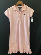 Girls Ralph Lauren Pink Pleated Dress Size L (12-14) NWT