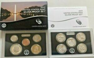 2017 S US Mint Silver Proof Set 10 Gem Coins W/Original Box and COA