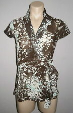 Party Cap Sleeve Wrap Tops & Shirts for Women
