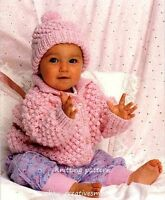 (104) Chunky Knitting Pattern for Boys Girls Jacket and Hat, 18-22''