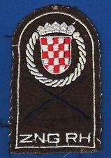 Croatian Army, ZNG RH, Croatian National Guard, Zbor narodne garde, patch 1990s