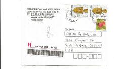 South Korea registered cover to Santa Barbara CA